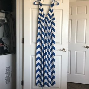 J. Crew Chevron Print Maxi Dress